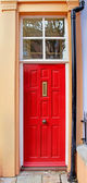 Retro red entrance — Stockfoto