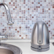 Silver kettle — Stock Photo #49800153