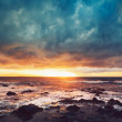 Storm on the Sea, Ocean Storm at Sunset — Stock Photo #10302723