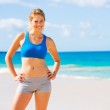Beautiful Athletic Woman at the Beach — Stock Photo