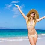 Beautiful Woman at the Beach — Stock Photo #13987743