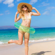Young Woman at the Beach — Stock Photo #13987757