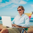 Business mon beach — Stock Photo #14319639