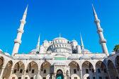 Vackra blå moskén — Stockfoto