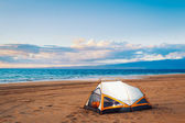 Camping on the Beach — Stock Photo