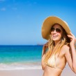 Beautiful Woman at the Beach — Stock Photo