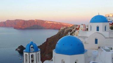 Santorini, Grekland på sunrise — Stockvideo
