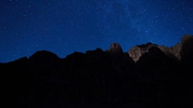 Stars, Moon and the Grand Canyon — Stock Video