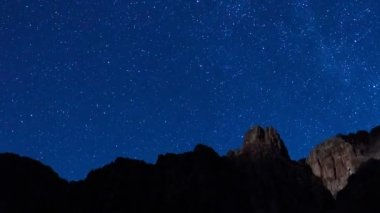 Stars, Moon and the Grand Canyon — Stock Video #15353115