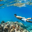 Snorkeling Underwater — Stock Photo