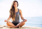 Meditación de la mañana — Foto de Stock