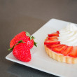 Stock Photo: Strawberry Cream Tart