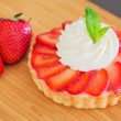 Strawberry Cream Tart — Stock Photo