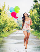 Beautiful Girl with Balloons — Stock Photo