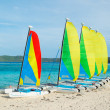 Sail Boats on Tropical Beach — Stock Photo