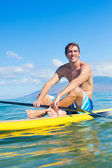 Man on Stand Up Paddle Board — Stock Photo