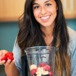 Making Fruit Smoothie — Stock Photo