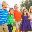 Happy Group of Young Kids — Stock Photo