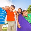 Happy Group of Young Kids — Stock Photo #31189677