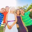 Happy Group of Young Kids — Stock Photo #31189687
