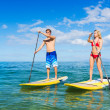 Couple on Stand Up Paddle Board — Stock Photo #31189723