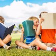 Stock Photo: Kids Reading Books