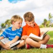 Kids Reading Books — Stockfoto