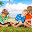 Kids Reading Books — Lizenzfreies Foto