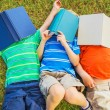 Kids Reading Books — Stock Photo