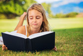 Young Girl Reading — Stock Photo
