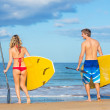 Couple Stand Up Paddling in Hawaii — Stock Photo #31190009