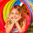 Cute Young Girl Playing — Stock Photo