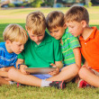 Kids with Tablet Computer — Stock Photo
