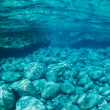 Stock Photo: Natural Blue Water Pool Underwater