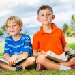 Boys Reading Books — Stockfoto