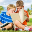 Boys Reading Books — Stock Photo