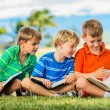 Group of Boys Reading — Stock Photo #31508687