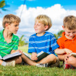 Group of Boys Reading — Stockfoto