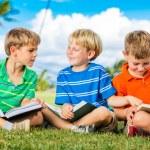 Group of Boys Reading — Stock Photo #31508705