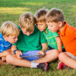 Kids using tablet computer — Stock Photo #31508995