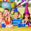 Stock Photo: Kids at Birthday Party