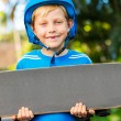 Stok fotoğraf: Boy with Skate Board