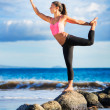 Woman practicing yoga — Stock Photo #32588779