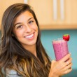 Stock Photo: Woman with Smoothie