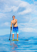 Stand Up Paddle Surfing In Hawaii — Stock Photo