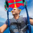 Parasailing Over Ocean in Hawaii — Stock Photo