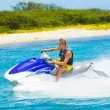 Young Man on Jet Ski — Foto Stock