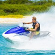 Young Man on Jet Ski — Stock fotografie