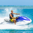 Young Man on Jet Ski — Stok fotoğraf