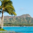 View of Diamond Head, Waikiki, — Stock Photo